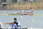 Hazewinkel, BELGIUM,  Men's Pair, bow [right]  Rick EGINGTON and Matt LANGRIDGE, Monday  Finals at the British Rowing Senior Trails, Bloso Rowing Centre. Monday   12/04/2010  [Mandatory Credit. Peter Spurrier/Intersport Images]