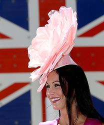 Racegoer Louise Brown during day five of Royal Ascot at Ascot Racecourse.
