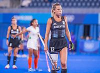 TOKIO - Delfina Merino (ARG)  tijdens de hockeywedstrijd in de halve finale vrouwen, Argentinië-India  (2-1) ,   tijdens de Olympische Spelen van Tokio 2020. Argentinië plaatst zich voor de finale.  COPYRIGHT KOEN SUYK