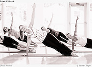 Women working out in a fitness class in Seattle.