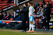 Tom Dallison comes off the bench during the EFL Sky Bet League 2 match between Walsall and Crawley Town at the Banks's Stadium, Walsall, England on 18 January 2020.