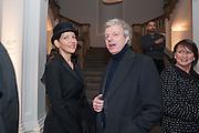 MELBA RUFFO DI CALABRIA; MASSIMO LOSIO, Mariko Mori opening, Royal Academy Burlington Gardens Gallery. London. 11 December 2012.