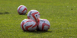 Aberdeen footballs at the Scottish Premiership match at St Mirren Park, Paisley.