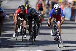 July 4, 2017 - Mondorf Les Bains / Vittel, Luxembourg / France - VITTEL, FRANCE - JULY 4 : SAGAN Peter (SVK) Rider of Team Bora - Hansgrohe, DEMARE Arnaud (FRA) Rider of FDJ during stage 4 of the 104th edition of the 2017 Tour de France cycling race, a stage of 207.5 kms between Mondorf-Les-Bains and Vittel on July 04, 2017 in Vittel, France, 4/07/2017 (Credit Image: © Panoramic via ZUMA Press)