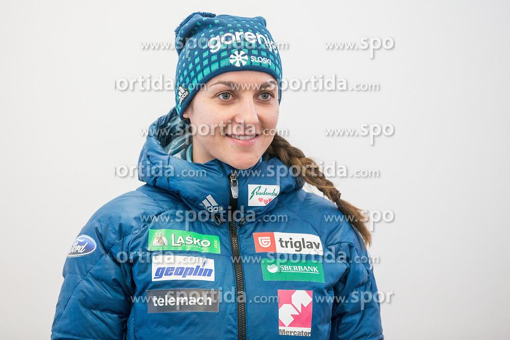 Maja Vtic during press conference of Slovenian Nordic Ski team before new season 2017/18, on November 14, 2017 in Gorenje, Ljubljana - Crnuce, Slovenia. Photo by Vid Ponikvar / Sportida