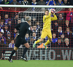 Ipswich Town's Dean Gerken makes a save at St Mary's Stadium - Photo mandatory by-line: Paul Knight/JMP - Mobile: 07966 386802 - 04/01/2015 - SPORT - Football - Southampton - St Mary's Stadium - Southampton v Ipswich Town - FA Cup Third Round