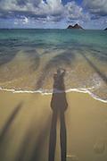 Shadow, Lanikai Beach, Oahu, Hawaii<br />