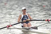 Amsterdam, HOLLAND, GBR LW1X, Andrea DENNIS, in her heat of the women's lightweight sculls,  at the 2007 FISA World Cup Rd 2 at the Bosbaan Regatta Rowing Course. [Date] [Mandatory Credit: Peter Spurrier/Intersport-images]..... , Rowing Course: Bosbaan Rowing Course, Amsterdam, NETHERLANDS