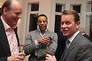 MARK ETHERINGTON; BEN DOUGLAS; SIMON ROBINSON, Drinks party given by Basia and Richard Briggs,  Chelsea. London. SW3. 13 February 2014.