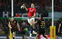 Rugby Union - 2017 British & Irish Lions Tour of New Zealand - Chiefs vs. British & Irish Lions<br /> <br /> Liam Williams of The British and Irish Lions out jumps Chase Tiatia of Chiefs at FMG Stadium Waikato, Hamilton.<br /> <br /> COLORSPORT/LYNNE CAMERON