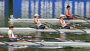 Lucerne, SWITZERLAND.   GBR LM2X  Bow. Zac PURCHASE and Mark HUNTER, moving away from the start at the 2012 FISA World Cup II, Lucerne Regatta.  Rotsee Rowing Course,  Friday  25/05/2012  [Mandatory Credit Peter Spurrier/ Intersport Images]