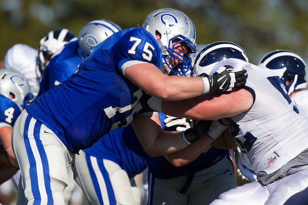 Tom Abare, of Colby College, during a NCAA Division III football game on September 27, 2014 in Waterville, ME. (Dustin Satloff/Colby College Athletics)