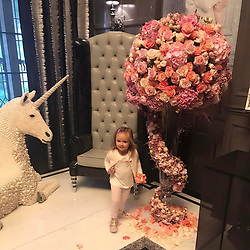 """Tamara Ecclestone releases a photo on Instagram with the following caption: """"\ud83e\udd84\ud83c\udf3a"""". Photo Credit: Instagram *** No USA Distribution *** For Editorial Use Only *** Not to be Published in Books or Photo Books ***  Please note: Fees charged by the agency are for the agency's services only, and do not, nor are they intended to, convey to the user any ownership of Copyright or License in the material. The agency does not claim any ownership including but not limited to Copyright or License in the attached material. By publishing this material you expressly agree to indemnify and to hold the agency and its directors, shareholders and employees harmless from any loss, claims, damages, demands, expenses (including legal fees), or any causes of action or allegation against the agency arising out of or connected in any way with publication of the material."""