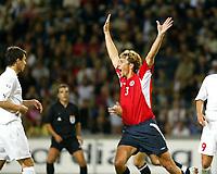 Fotball<br /> VM-kvalifisering<br /> Norge v Hviterussland<br /> Ullevaal stadion<br /> 8. september 2004<br /> Foto: Digitalsport<br /> Vidar Riseth, Norge