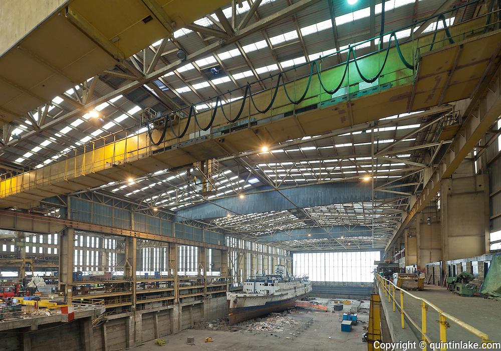 Steamship Manxman in the Pallion Shipyard, Sunderland, UK, June 2011