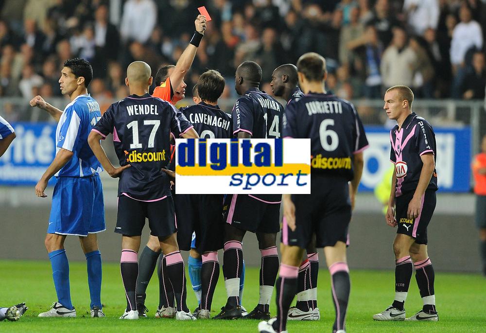 Fotball<br /> Frankrike<br /> Foto: Dppi/Digitalsport<br /> NORWAY ONLY<br /> <br /> FOOTBALL - FRENCH CHAMPIONSHIP 2008/2009 - L1 - FC GRENOBLE v GIRONDINS BORDEAUX - 20/09/2008 - ALOU DIARRA (BDX) RED CARTON