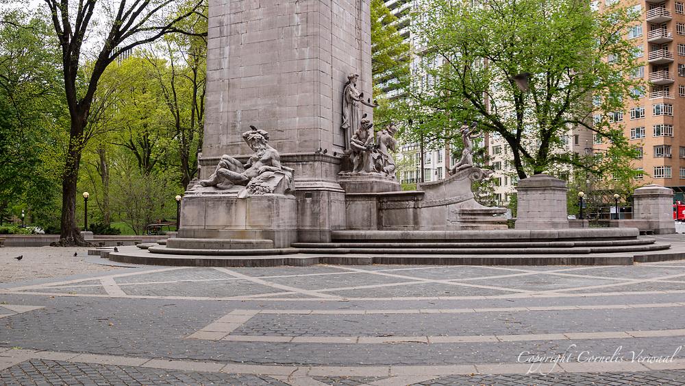 Columbus Circle during New York Covid-19 Pause, May 6, 2020.