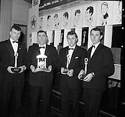 The Caltex Sports Stars of he Year recieved their trophies from An Taoiseach Mr. Seán Lemass T.D. at a dinner at the Gresham Hotal, Dublin.  .01.02.1962