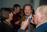 MARGARET DRABBLE; MICHAEL HOLROYD; CLIVE SWIFT, The Actors Centre's 30th Birthday Party. 1a Tower St, Covent Garden. London. 2nd November<br /> *** Local Caption *** -DO NOT ARCHIVE -Copyright Photograph by Dafydd Jones. 248 Clapham Rd. London SW9 0PZ. Tel 0207 820 0771. www.dafjones.com