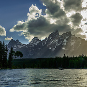 Towering and distinctive Cathedral Group, Grand Teton National Park, Wyoming.