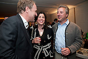 SIMON MILLS; KIRSTIE ALLSOP; BEN ANDERSON, Book launch party for the paperback of Nicky Haslam's book 'Sheer Opulence', at The Westbury Hotel. London. 21 April 2010