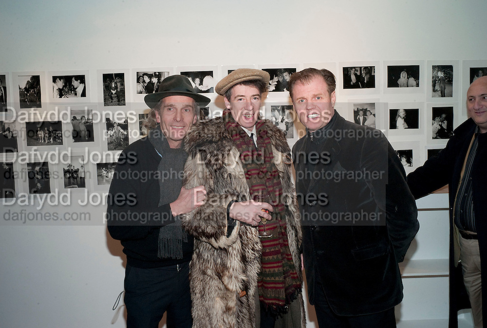 ROBERT PERENO; GAZ MAYALL; RUSTY EGAN, The Way We Wore.- Photographs of parties in the 70's by Nick Ashley. Sladmore Contemporary. Bruton Place. London. 13 January 2010. *** Local Caption *** -DO NOT ARCHIVE-© Copyright Photograph by Dafydd Jones. 248 Clapham Rd. London SW9 0PZ. Tel 0207 820 0771. www.dafjones.com.<br /> ROBERT PERENO; GAZ MAYALL; RUSTY EGAN, The Way We Wore.- Photographs of parties in the 70's by Nick Ashley. Sladmore Contemporary. Bruton Place. London. 13 January 2010.