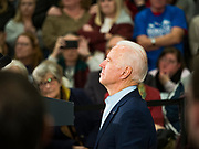04 JANUARY 2020 - DES MOINES, IOWA: Former Vice President JOE BIDEN waits to speak at a campaign event in Des Moines. Vice President Biden is touring Iowa this week to support his candidacy for the US Presidency. Iowa hosts the first presidential selection event of the 2020 election cycle. The Iowa caucuses are on February 3, 2020.       PHOTO BY JACK KURTZ