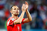 Russia Sergey Ignashevich celebrates the victory after the 2018 FIFA World Cup Russia, Group A football match between Russia and Egypt on June 19, 2018 at Saint Petersburg Stadium in Saint Petersburg, Russia - Photo Stanley Gontha / Pro Shots / ProSportsImages / DPPI