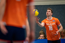 Robbert Andringa #18 of Netherlands in action during the Olaf Ratterman Memorial match between Netherlands vs. Eredivisie All Star team on May 03, 2021 in Barneveld.