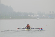 Beijing, CHINA. DEN JM2X, bow, Willem SPROKHOLT and Lucas UITTENBOGAARD, move away from the start during their semi final, at  the  2007. FISA Junior World Rowing Championships,  Shunyi Water Sports Complex. 10/08/2007 [Photo, Peter Spurrier/Intersport-images]..... , Rowing Course, Shun Yi Water Complex, Beijing, CHINA,