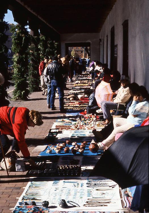 Sidewalk Vendors at Santa Fe Plaza, Santa Fe, New Mexico