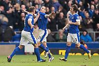 Football - 2012 / 2013 Premier League - Everton vs. Manchester City<br /> Leon Osman of Everton celebrates his opening goal at Goodison Park