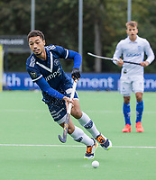 AMSTELVEEN - Marlon Landbrug (Pinoke)    tijdens   hoofdklasse hockeywedstrijd mannen, Pinoke-Kampong (2-5) . COPYRIGHT KOEN SUYK