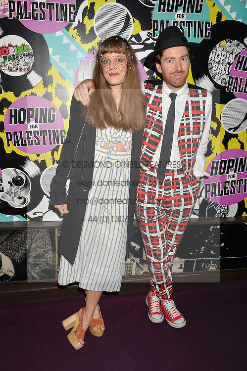 PHILIP COLBERT and his wife CHARLOTTE GOLDSMITH at Hoping's Greatest Hits - the 10th Anniversary of The Hoping Foundation's charity benefit held at Ronnie Scott's, 47 Frith Street, Soho, London on 16th June 2016.