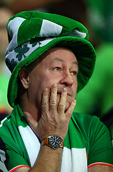 October 9, 2017 - Cardiff City, Walles, United Kingdom - Republic of Ireland  Fans look stress in the last Ten minutes.during FIFA World Cup group qualifier match between Wales and Republic of Ireland at the Cardiff City Stadium, Cardiff, Wales on 9 October 2017. (Credit Image: © Kieran Galvin/NurPhoto via ZUMA Press)