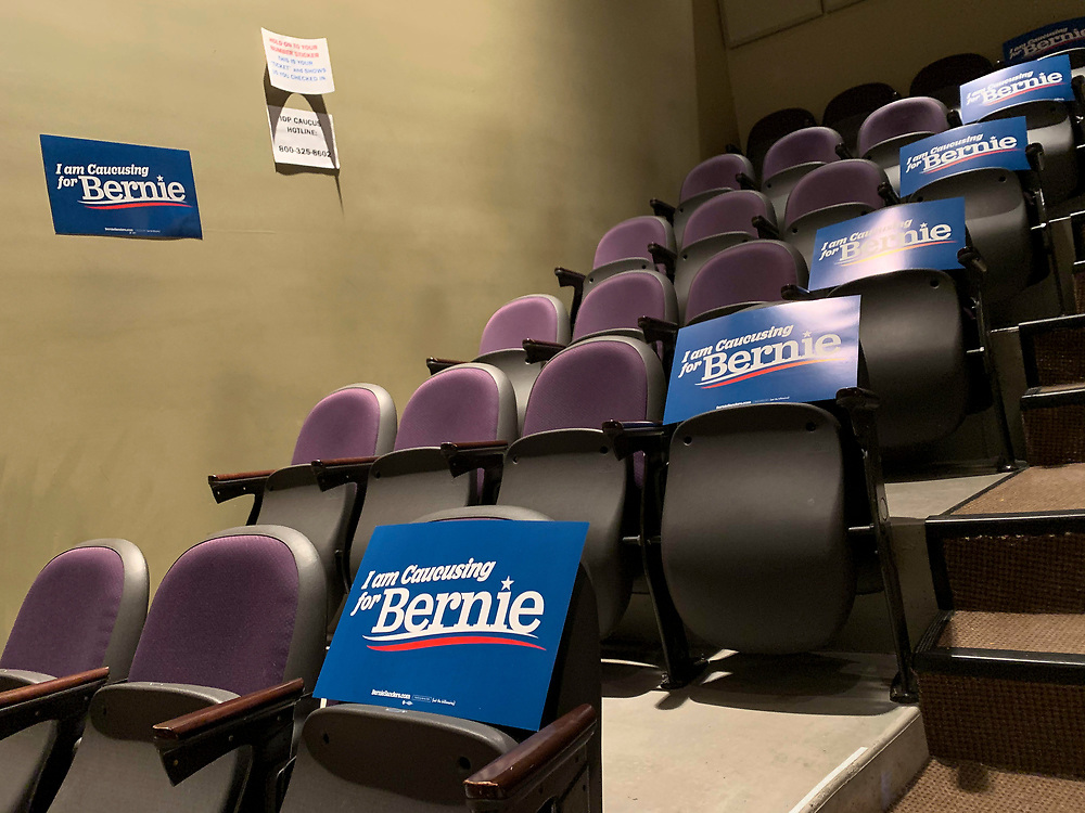 Seats waiting to be filled for Bernie supporters.