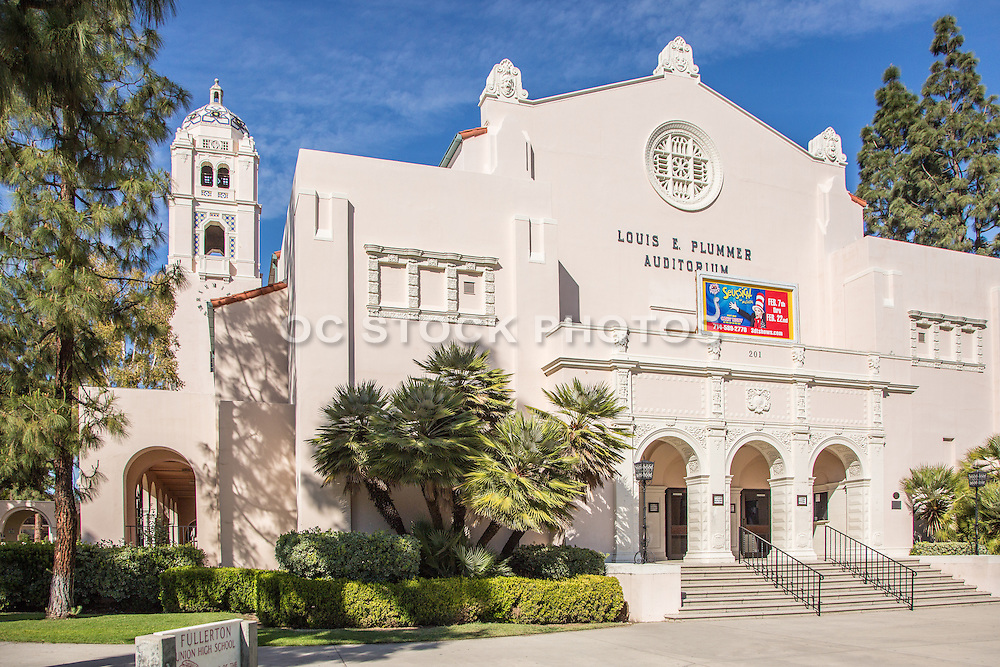 Louis E. Plummer Auditorium at Fullerton High School