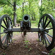Historic cannon at Fort Marcy. On the banks of the Potomac in McLean, Virginia, just west of Washington DC, Fort Marcy is an historic site on the George Washington Parkway managed by the National Park Service. During the Civil War it was one of several forts that surrounded Washington DC to protect the city.