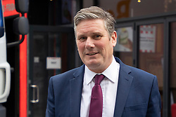 © Licensed to London News Pictures. 12/10/2020. London, UK. Labour Party Leader Sir Kier Starmer departs LBC Studios after appearing on Nick Ferrari at Breakfast . Later today Prime Minster Boris Johnson is expected make a statement in The House of Commons . Photo credit: George Cracknell Wright/LNP