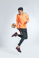 **EXCLUSIVE**Portrait of Chinese soccer player Zhang Chi of Shandong Luneng Taishan F.C. for the 2018 Chinese Football Association Super League, in Ji'nan city, east China's Shandong province, 24 February 2018.