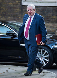 © Licensed to London News Pictures. 23/02/2016. London, UK. Secretary of State for Transport PATRICK MCLOUGHLIN arrives at number 10 Downing Street in Westminster, London for cabinet meeting. Photo credit: Ben Cawthra/LNP
