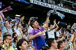 Real Madrid fans celebrate - Mandatory byline: Rogan Thomson/JMP - 04/05/2016 - FOOTBALL - Santiago Bernabeu Stadium - Madrid, Spain - Real Madrid v Manchester City - UEFA Champions League Semi Finals: Second Leg.
