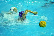 USA -Cuba (blue) women's water polo action at the 1999 Pan American Games.
