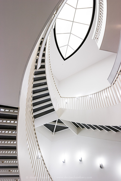 Abstract of the Stairwell in Chicago's Museum of Contemporary Art