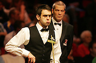 Ronnie O'Sullivan of England. Welsh Open Snooker at the Newport Centre, Feb 2009.