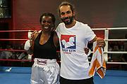 BOXEN: Hamburg Giants Professional Boxing, Hamburg. 01.08.2020<br /> Natalie Zimmermann - Abby Brown<br /> © Torsten Helmke