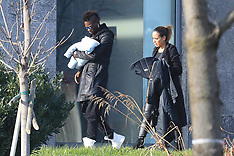 Mario Balotelli seen with his baby son - 15 Jan 2018