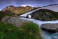 A small section of the Savara river at Pian del Nivolet, in the heart of the Gran Paradiso National park, the largest and oldest protected area of Italy. Taken about a hour before sunrise at the end of June, this is stitched from five vertical frames.