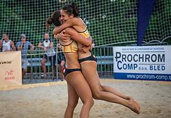 Lana Zuzek in Zala Spoljaric during the match for 3rd on Beach volley National Championship of Slovenia  on July 20, 2019 in Kranj, Slovenia. Photo by Urban Meglic / Sportida