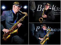 Musician Bob Swift poses for a portrait with his saxophone at the Greystones pub in Sheffield, England.<br /> <br /> PHOTO'S: Steve Kingsman